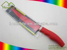 Hot sale High quality Unique design LFGB painting stainless steel kitchen Bread Knife
