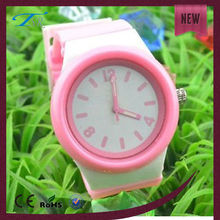 Custom silicone rubber watch band trendy fashion silicone jelly candy watches