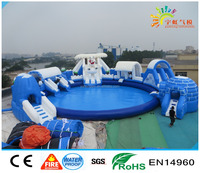 2016 new design removable inflatable water park
