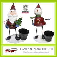 Decoration crafts for christmas day metal santa claus,father christmas