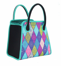 Insulated Neoprene Lunch Bag National Style Lunch Tote Versatile Purse for Women Girls
