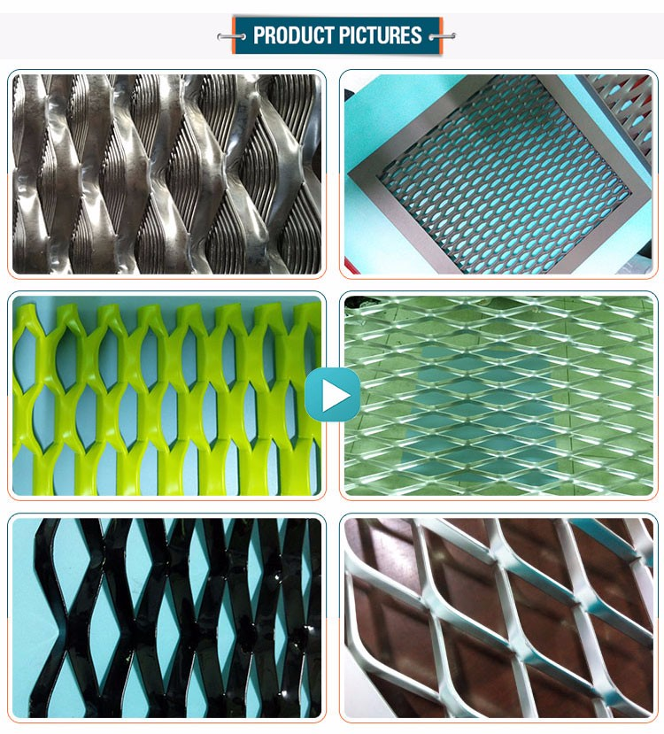 Decorative colorful wall panels aluminum expanded metal mesh