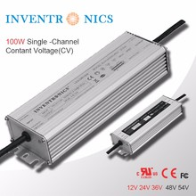 Inventronics 100W 24V 36V Waterproof Electronic LED Driver 12V IC Constant Voltage Output IP67 Outdoor Lighting LED Power Supply