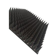 Rubber durable thin pyramid absorber for emi filter