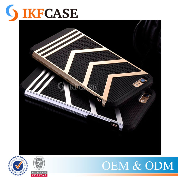 Hybrid Silicon Plastic Shockproof Leather Skin Armor Phone Case For iPhone 5 5S 5G SE