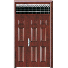 HS-1873 new design main metal door skin jamb with grill designs