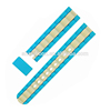 Flat End Double Colors Silicone Watch Straps Bands