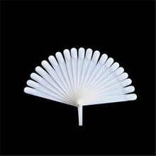A5556 Profesional Fan shape 20pcs Nail Art Polish Display Practice Tips Nail Art Chart For Nail Salon