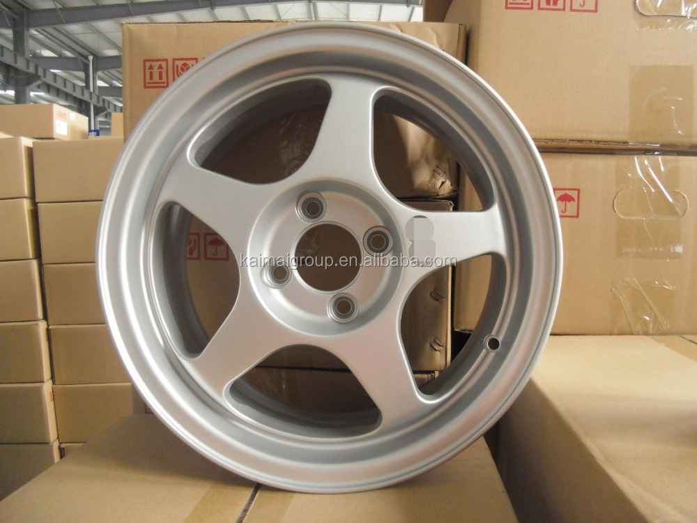 15inch zero offset car alloy wheel rims