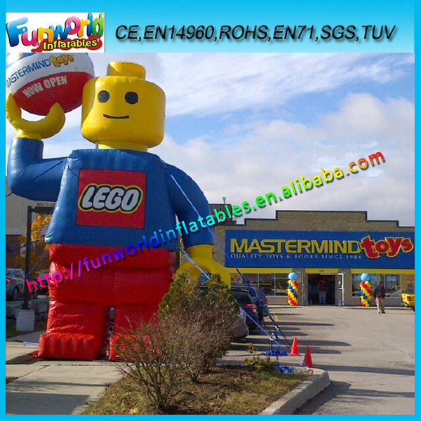 Lego Man Inflatable,8mH Inflatable Advertising Cartoon Man/Toy