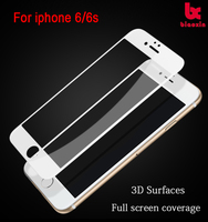 Made in China For Iphone 6 3D tempered glass screen protector high clear anti-scratch 9H 0.2mm anti-finger Alibaba express