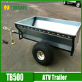 Small tow galvanized car trailer