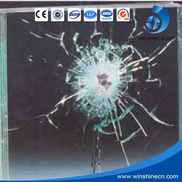 Factory supply low price tempered bulletproof glass for bank, car, shop and private house