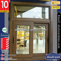Good Price Aluminum Sliding Window In Wooden Finished Coler