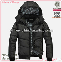 black color latest coat styles for men with hood in and long sleeve
