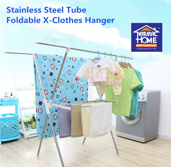 Good quality and cheap price of foldable stainless steel laundry rack dryer hangers wholesale home portable clothes dryers