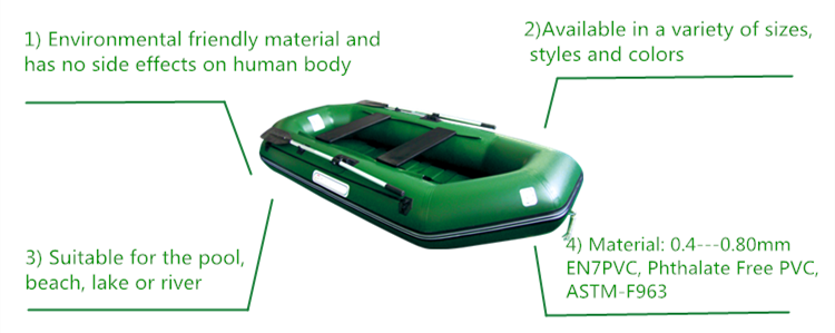 pvc foldable fishing inflatable boat for advertising