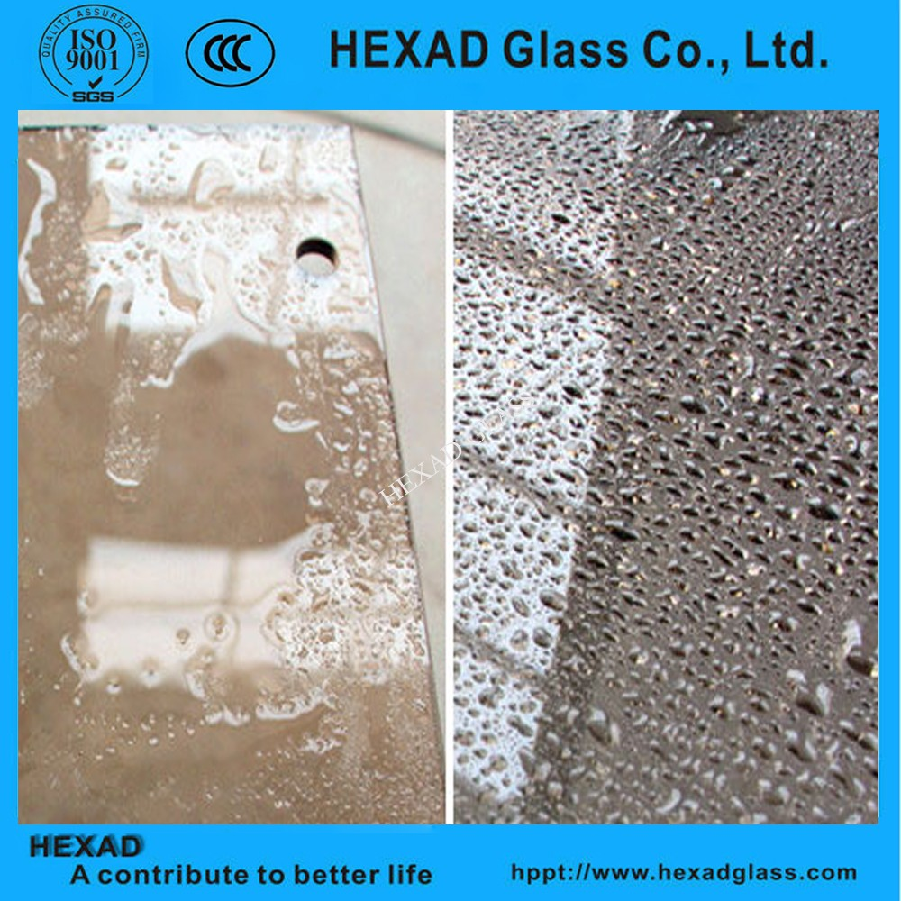 Self cleaning glass for curtain wall, window or canopy