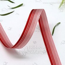 Birthday cakes color red and white striped ribbon for wholesale