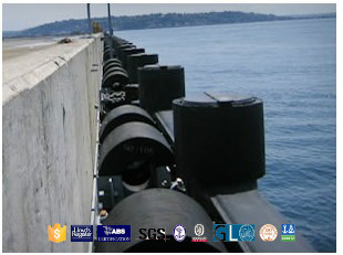 cylinder rubber fender adopted by Egypt navy