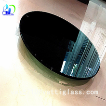 Top quality round glass dining table /oval tempered glass top dining table top