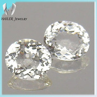 Oval shape 5x7mm Natural white topaz gemstone price