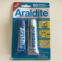 HIGH Performance Epoxy Adhesive Araldite glue 90 minutes Standsrd 17ml *2