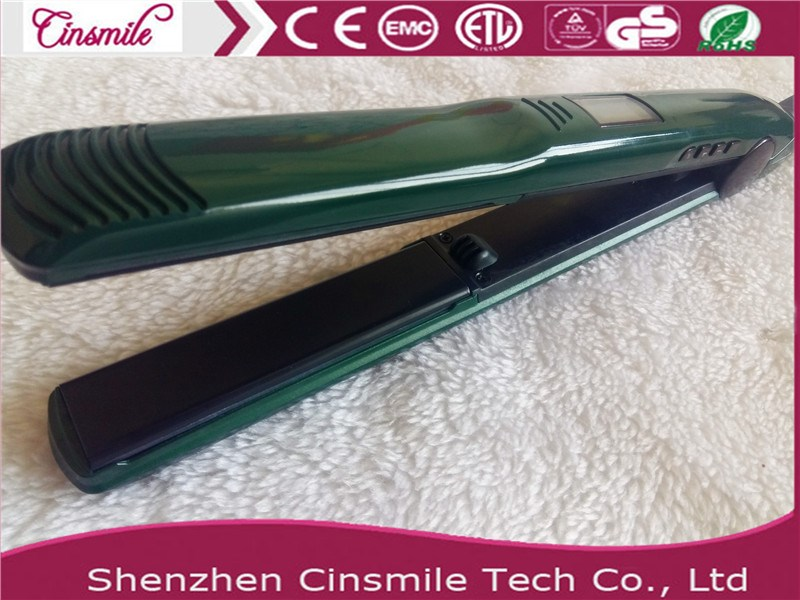 2017 new Professional Manufacturer crystal hair flat iron with bling power cord with vibration function and Ionic