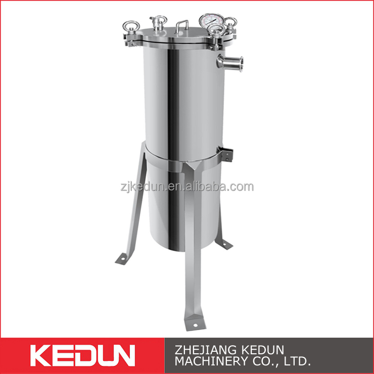 Food Beverage Grade SS304 SS316L Side Entry Bag Juice Filter
