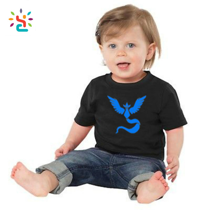 Pokemon Go Baby Clothes Team Valor Team Mystic Team Instinct Pokemon Baby Boy Girl T-shirt Toddler Kids Clothes Tops Tee