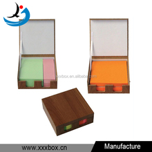 hot sale square cheap MDF note paper box