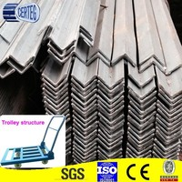 Q235,SS400 hot rolled angle iron/tensile strength of steel angle bar