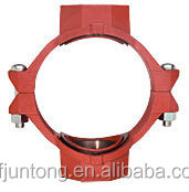 UL FM CE approval ductile iron grooved pipe fittings and couplings grooved mechanical cross threaded outlet