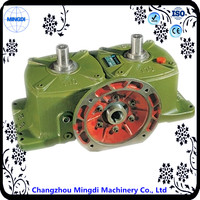 WPO Series 90 Degree Cast Iron small Worm Gearbox Transmission Parts with mini electric motor