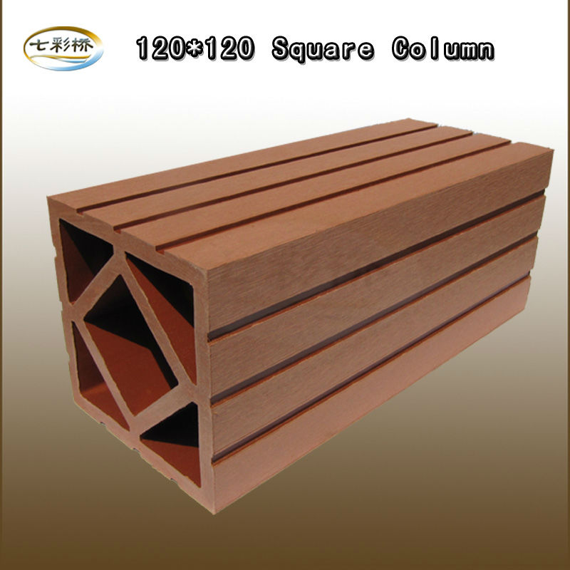 High Quality WPC Column120*120mm for Pavilion Railing Fence