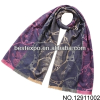 The rose pattern jacquard scarf wholesale