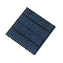 BUHESHUI Mini 18V 1.2W Polycrystalline Solar Cell Solar Panel For Charging 12V Battery DIY Solar Module Charger 100*100MM Epoxy