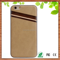 real wood factory eco friendly personalized wooden cell phone case for iphone 6, for iPhone 6 wooden case leather