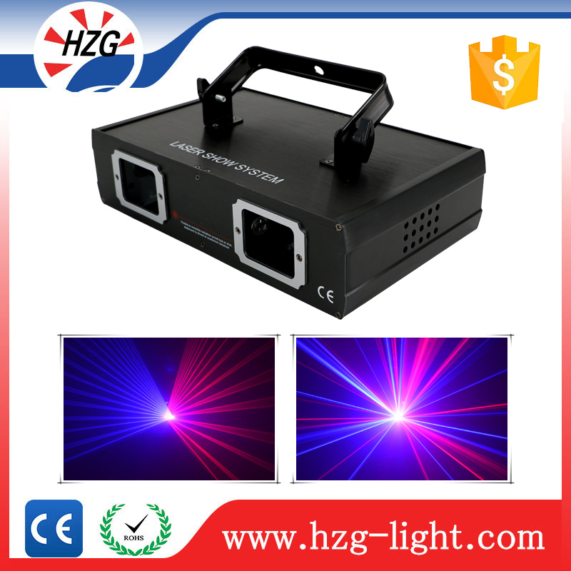 Mini laser christmas light show equipment 2 head RB animation disco laser party light & lighting for dj