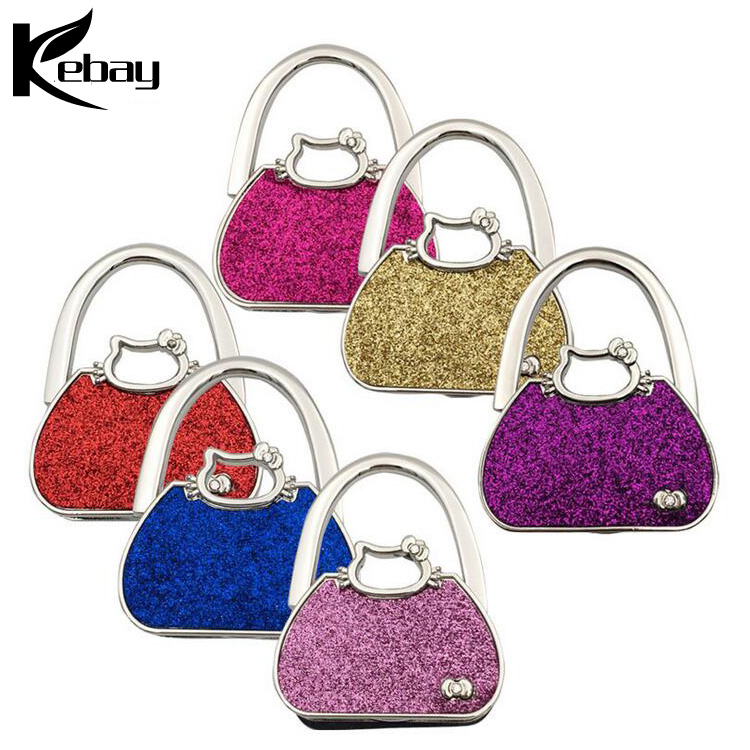Wholesale shiny handbag hook Make your own purse hanger