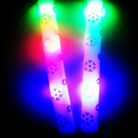 Multi color changing led glow foam light stick