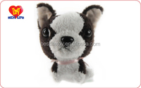 Wholesale cute Christmas plush soft funny little dog toys for kids (PTWA0115081)