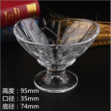 High quality beauty design clear stemmed individual glass dessert bowls