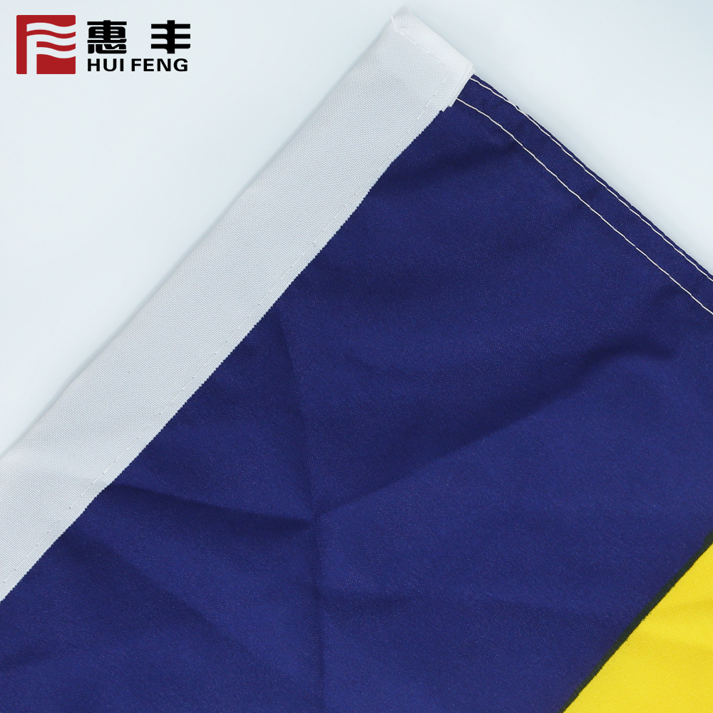 China 2018 wholesale new style digital printing decorative popular double layers polyester double-lines knitted american flag