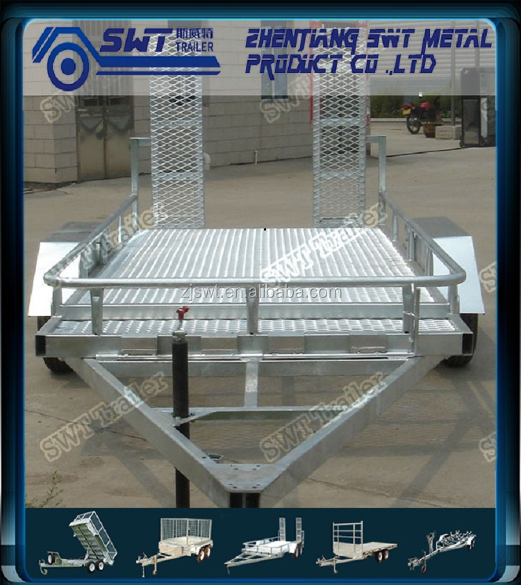 Efficiency tractor excavator trailer with steel cage