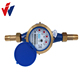 Multi-jet, dry-dial brass, plastic cold/hot water meter