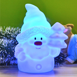 2015 Christmas decoration indoor color changing led Christmas light Santa night light
