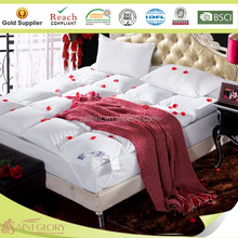 Luxury comfortable home use white duck down with feather mattress pad down mattress topper