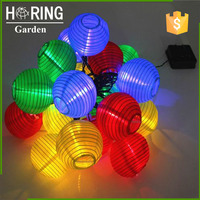 20 LED or OEM Waterproof Solar lantern lamp Festive Garden ball string Fairy Light color christmas outdoor lighting
