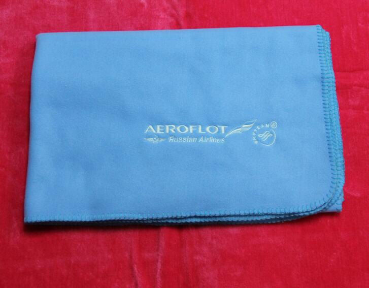 Promotional 2 in 1 pillow airplane blanket with custom logo